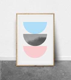 Colorful Modern Colorful Wall Art Digital Download
