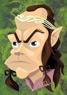 Hugo Weaving in the role of Elrond - caricature by Ribosio #thelordoftherings