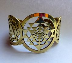 The Sri Yantra Shiva Shakti Kundalini Snake by CreateAwakejewelry, $133.00