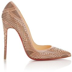 Christian Louboutin Laser-Cut Kristali Pumps at Barneys New York Mens New Years Eve Outfit Nude Shoes, Nude Pumps, High Heel Pumps, Pointed Toe Pumps, Pumps Heels, Women's Shoes, Me Too Shoes, Shoe Boots, Gold Pumps
