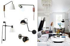   Apliques de pared de estilo industrial y contemporáneo Sweet Home, Vest, Sconce Lighting, Retro Design, Contemporary Style, Beams, Spot Lights, House Beautiful