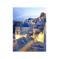 Dusk, Oia, Santorini, Cyclades Islands, Greece Photographic Wall Art... (125 BRL) ❤ liked on Polyvore featuring home, home decor, wall art, backgrounds, photos, pictures, building, filler, photography wall art and island wall art