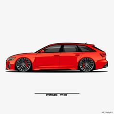 Audi A6 Rs, Audi A6 Avant, Audi Rs6, Lowrider Drawings, Car Drawings, Car Animation, Porche 911, Vinyl Wrap Car, Top Luxury Cars