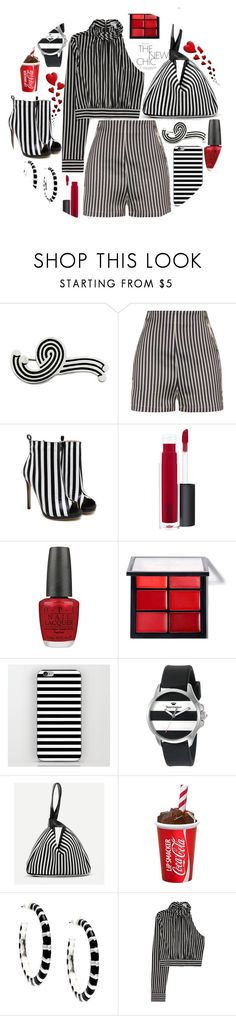 """""""The chic stripes"""" by puljarevic ❤ liked on Polyvore featuring NOVICA, La Perla, MAC Cosmetics, OPI, Juicy Couture, Alexa Starr, red, stripes and blackandwhite"""