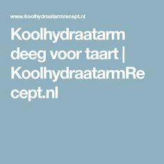Koolhydraatarm deeg voor taart   KoolhydraatarmRecept.nl
