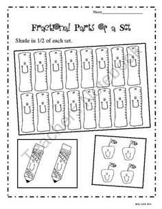 math worksheet : 1000 images about educational on pinterest  third grade reading  : Fractional Parts Of A Set Worksheet