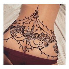 Lower back tattoos ❤ liked on Polyvore featuring accessories, body art and tattoos