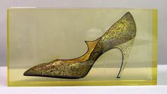 Evening shoes Design House: House of Dior (French, founded 1947) Designer: Roger Vivier (French, 1913–1998) Date: 1960 Culture: French Medium: silk, metallic thread, plastic, glass