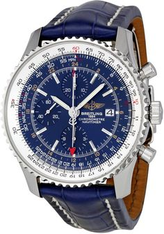Breitling Men's A2432212/C651BLCD Navimeter World Chronograph Blue Dial Watch