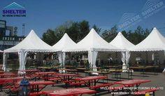 Pagoda Tent can be used for outdoor catering shade. Gazebo Roof, Gazebo Canopy, Backyard Gazebo, Canopies, Canopy Tent For Sale, Tent Sale, Outdoor Catering, Outdoor Events, White Gazebo
