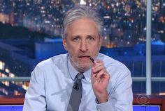 Once again Monday night, Jon Stewart joined Stephen Colbert to share his thoughts about President Trump's war on the free press.
