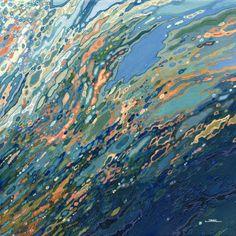 "Saatchi Art Artist: Margaret Juul; Acrylic 2015 Painting ""Blue Ocean Sunset"""