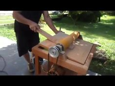 Drum sander working  (part 2 - conclusion) - YouTube