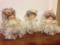 Christmas Time, Christmas Ornaments, Angel Crafts, Fabric Dolls, Holidays And Events, Doll Toys, Art Dolls, Doll Clothes, Flower Girl Dresses