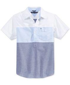 Tommy Hilfiger Boys' Mixed Media Shirt