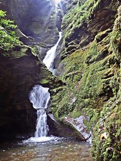 Mike's Cornwall: The Magical, Mysterious Waterfall at St. A spiritual place, an inspiration for artists and writers. Sounds Of Birds, Money Trees, Mysterious Places, North Coast, Great British, British Isles, More Photos, The Rock, Cornwall