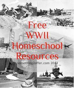 Free WWII Homeschool Resources - Something 2 OfferSomething 2 Offer High School History, History For Kids, Study History, History Class, Ww2 History, Teaching Social Studies, Teaching Kids, Teaching Resources, Teaching Spanish