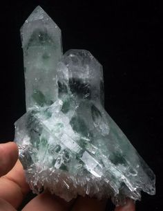 383 New Find Rare Green Phantom Quartz Crystal Cluster Specimen Crystal Cluster, Quartz Crystal, Phantom Quartz, Amethyst, Stones, Crystals, Green, Crafts, Rocks
