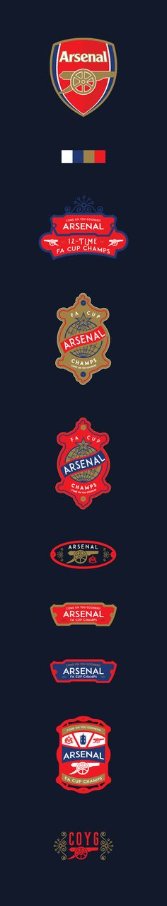 Arsenal - FA Cup Winners 2015 (12 Times)