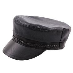 1db5aff093e62 Men Genuine Leather Cowhide Flat Cap Solid Army Hats Classic Hand-Made Beret  Cap Duck Cap is hot sale on Newchic.