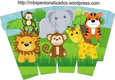 Jungle Theme Birthday, Safari Theme Party, First Birthday Party Themes, Birthday Activities, Jungle Party, Baby Shower Crafts, Pop Corn, Cute Box, Party Kit