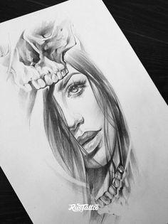 Chicano Tattoos, Sexy Tattoos, Body Art Tattoos, Girl Tattoos, Sleeve Tattoos, Tatoos, Tattoo Sketches, Tattoo Drawings, Face Tattoos For Women