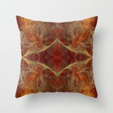 Abstract texture in autumn tones Throw Pillow