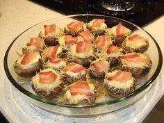 Cantinho da Somi: Cogumelos Pasta Salad, Meat, Ethnic Recipes, Stuff Mushrooms, Cod, Herbs, Recipes, Ideas, Cheese