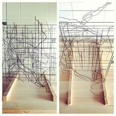mapping 3D piece made of wire