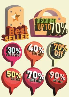 Classic sale tag vector 05