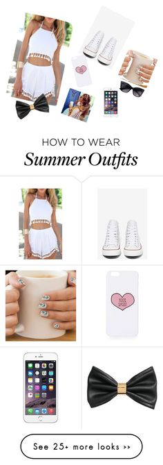 """""""Causal outfit"""" by jordi-french on Polyvore featuring Converse, Topshop and H&M"""