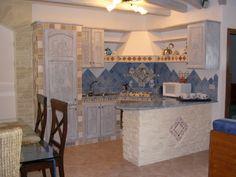 cucina muratura shabby chic - cerca con google | shabby ... - Cucina In Muratura Con Penisola