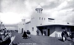 Colwyn Bay Pier Pavilion where Eric Ravilious painted  a mural, depicting underwater scenes, in the 1930s after the pavilion was rebuilt following a fire.