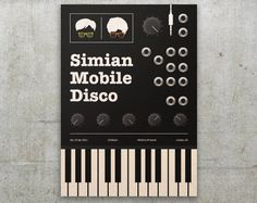 Simian Mobile Disco - Print design - Korg Ms-20 - Electronic Music de FlatMates en Etsy