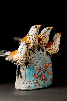Ceramics by Jennie Hale at Studiopottery.co.uk - 2011. Thrushes