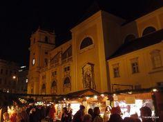 Christmas market at a square named Freyung in Vienna, Austria Christmas Markets, Vienna Austria, Alter, Switzerland, December, Wanderlust, Europe, Marketing, Building