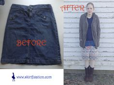 A fast, easy and gorgeous way to update a denim skirt!