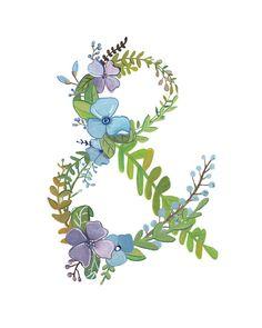 Ampersand  impresión Floral del Ampersand