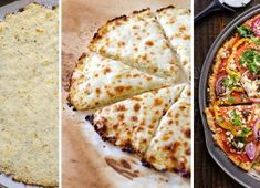 Cauliflower Pizza Crust Recipe - Recipes for Diabetes-Weight Loss-Fitness My Recipes, Favorite Recipes, Good Food, Yummy Food, Cauliflower Crust Pizza, Italian Dishes, Mozzarella, Delish, Low Carb