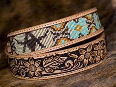 Beaded Belts, Beaded Hat Bands, Seed Bead Patterns, Beading Patterns, Western Belt Buckles, Western Belts, Custom Leather Belts, Leather Working Patterns, Beadwork Designs