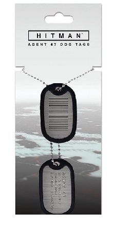 Hitman Agent 47 Dog Tag For the upcoming and Hitman video game title Gaya Entertainment presents Agent 47 Dog Tags. They show the Agent 47 barcode and the assigned Identification from the ICA. The two Dog Tags consist of met http://www.MightGet.com/march-2017-1/hitman-agent-47-dog-tag.asp