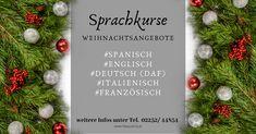 Stöbern Sie in unserem Sprachangebot! #Spanisch, #Englisch, #Deutsch (DaF), #Italienisch, #Französisch Table Decorations, Christmas, Learn Languages, Spanish, Xmas, Navidad, Noel, Natal, Kerst