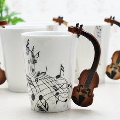 Violine Musik Bone China Becher 240ml Keramik Kaffee Tee Tasse Porzellan Bone China, Kitchen Decor, Coffee Mugs, Kitchen Appliances, Etsy, Tableware, Tea Time, Music Instruments, Ceramic Cafe