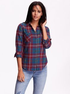 Classic Plaid Flannel Shirt Product Image