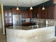 WOW such a beautiful kitchen. Designed & installed by Royal Palm closet design & fine cabinetry 239-768-2391