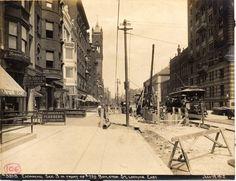 Construction of Boston subway extension under Boylston Street, 1912 (City of Boston Archives)