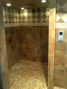 Custom Tile Shower with Deco Band by CarpetsPlus COLORTILE, Winnsboro, TX.