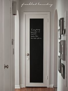cute...paint part of a door with chalkboard paint