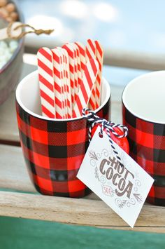 Hot Cocoa Bar Christmas Party with FREE PRINTABLES by Kara's Party Ideas   KarasPartyIdeas.com for Canon   Hot Chocolate Sign, Hot Chocolate Tags, and more!