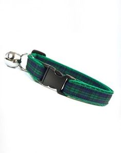 Pinned onto Cat Collars Board in Cat Accessories Category Blue Green, Emerald Green, Cat Accessories, Cat Collars, Small Dogs, Tartan, Belt, Personalized Items, Trending Outfits